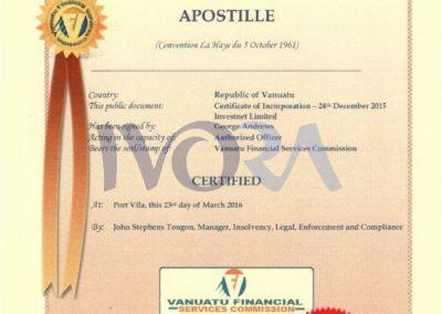 Апостил Вануату